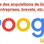 Liste de 172 acquisitions de Google ! Entreprises, brevets, tout y passe