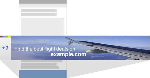 Exemple de bouton +1 sur une bannière AdSense sur mobile