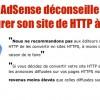 AdSense déconseille HTTPS