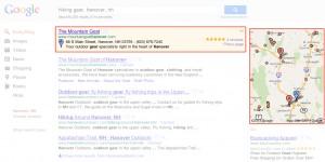 Une annonce Google Adwords Express dans les SERP Google