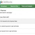 Google AdWords Keyword Planner, outil de planification de mots-clés