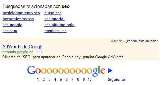 Quand Google recommande d'oublier le SEO pour passer à AdWords...