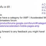 Pages AMP : forum officiel Google et autres ressources d'aide