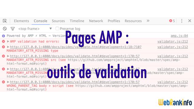 Validateurs AMP