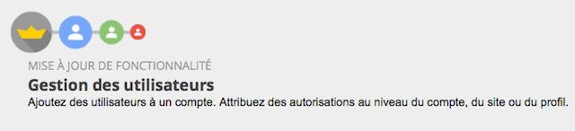 Google Analytics gestion utilisateurs