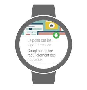Listing d'articles appli android watch