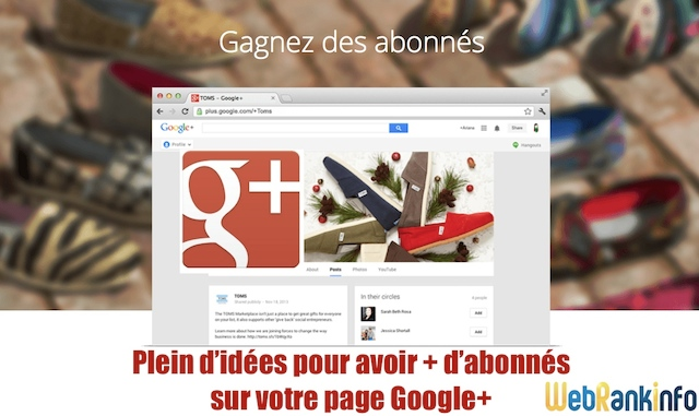 Augmenter followers Google Plus