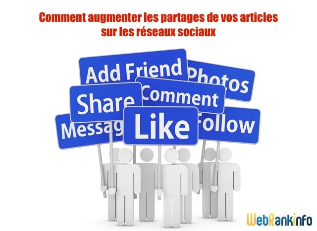 Augmenter partages sur réseaux sociaux