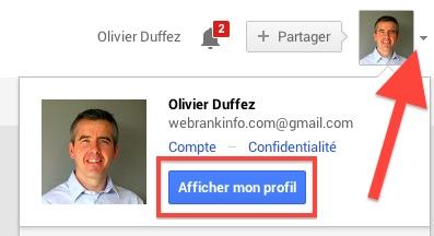 Accès au profil Google Plus