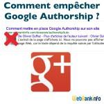 Authorship : comment éviter d'être reconnu auteur par Google ?