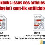 Un backlink issu d'un article plagié est-il artificiel?