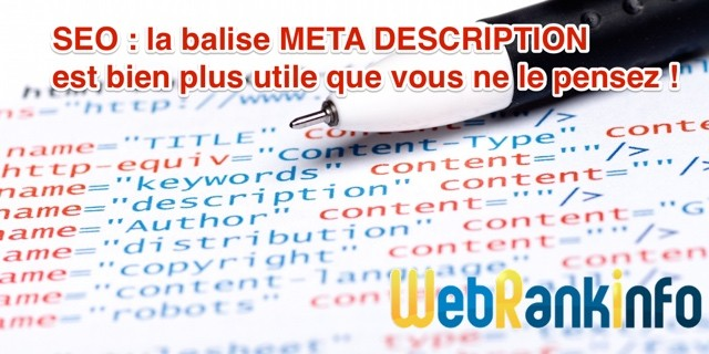 Balise meta description utile SEO