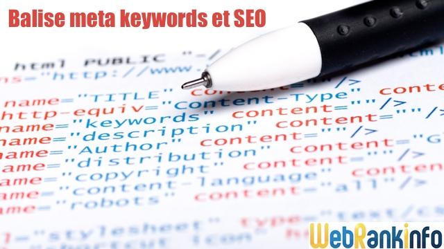 Balise meta keywords