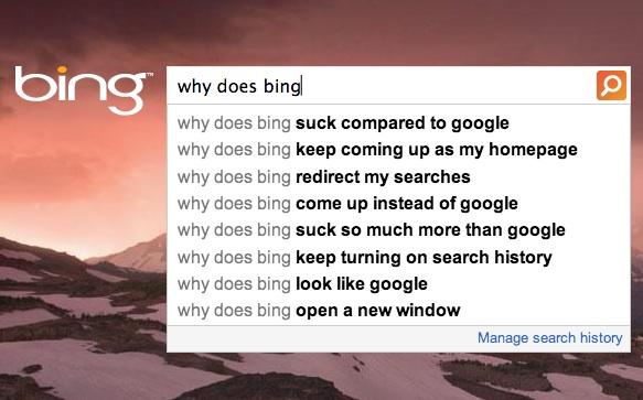 Bing autosuggest