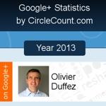 Bilan de Google+ en 2013 pour WebRankInfo / O. Duffez