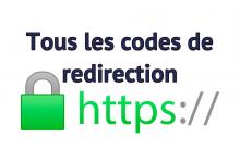 Codes redirection https