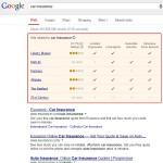 Le comparateur d'assurance auto arrive en test sur google.com