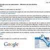 Détection de liens factices : message Google