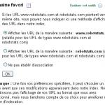 Domaine favori – URL canonique