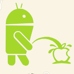 Easter Egg : le robot Android urine sur le logo d'Apple dans Google Maps