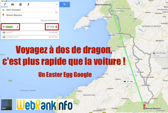 Easter Egg dragon Google Maps