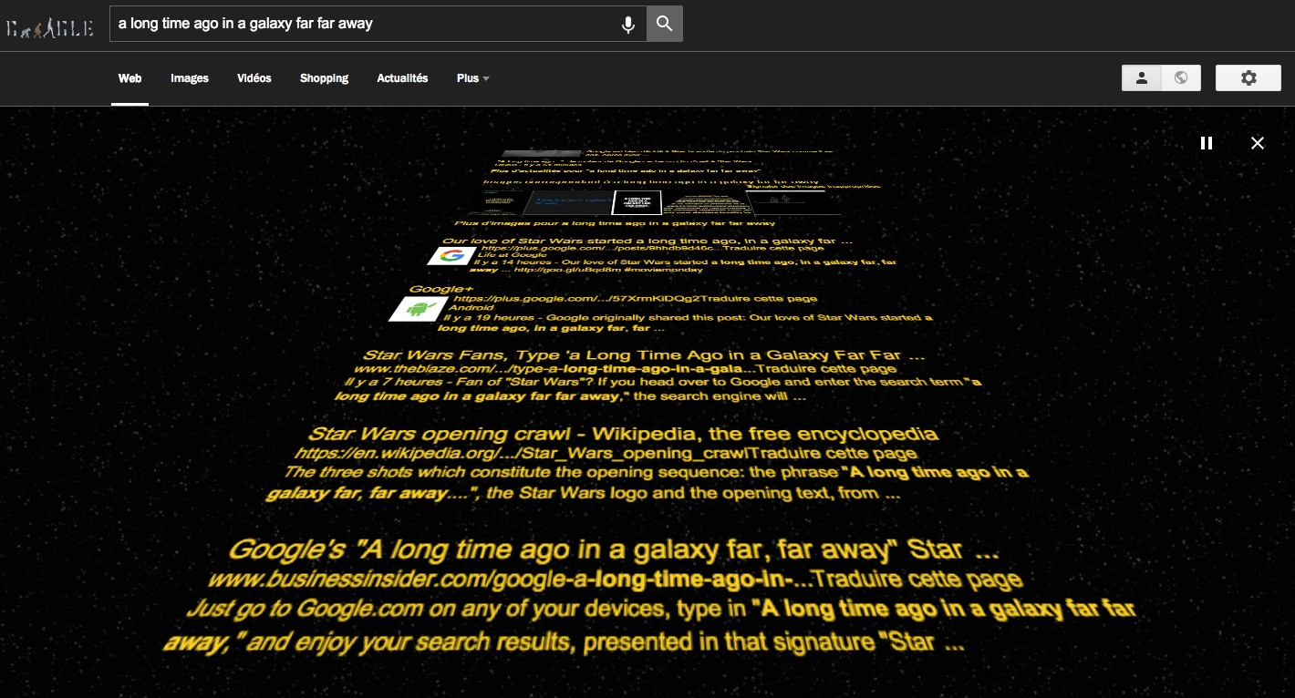 Easter Egg Google Star Wars