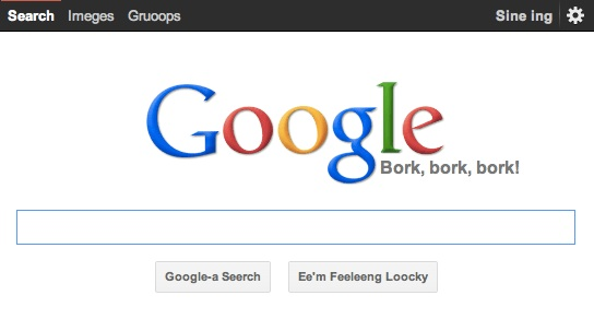 Easter Egg Google Bork