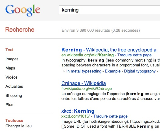 Easter Egg Google Kerning