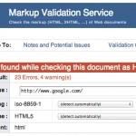 Les erreurs de validation W3C ne pénalisent pas le référencement Google (sauf cas extrême)