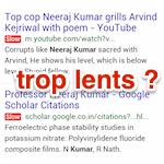 Google teste l'affichage des sites trop lents dans les SERP