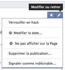 Configurer l'affichage d'un post dans la timeline d'une page Facebook