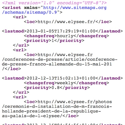 Fichier sitemap XML