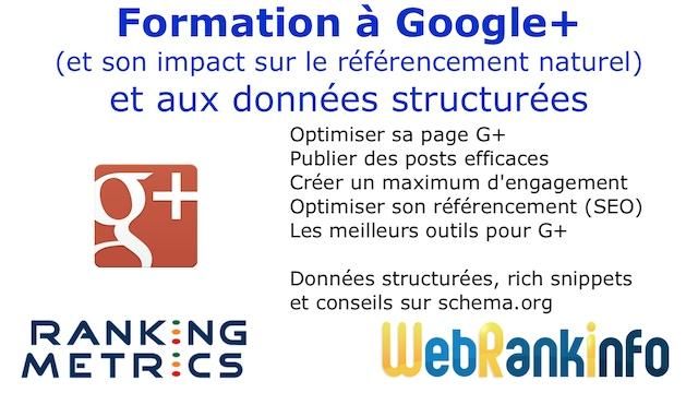 Formation Google Plus