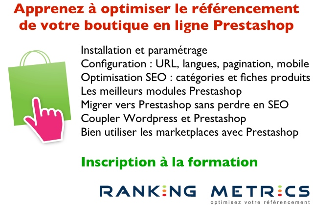 Formation referencement Prestashop
