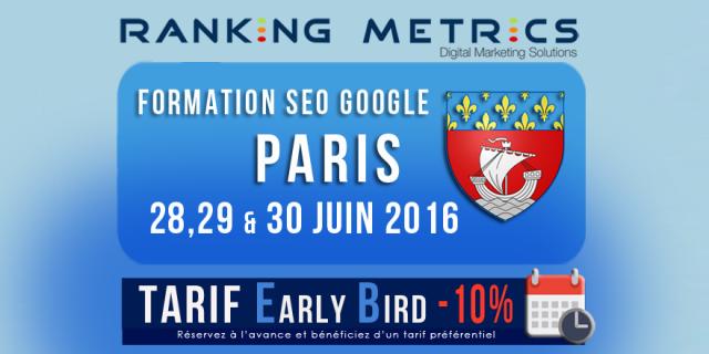 Formation SEO à Paris (juin 2016)