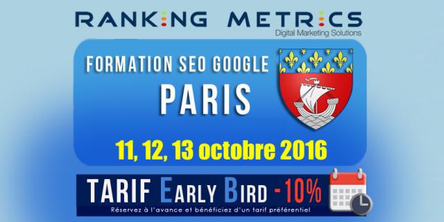 Formation SEO à Paris (octobre 2016)