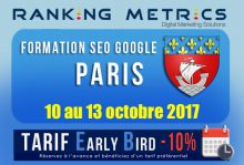 Formation SEO Paris octobre 2017