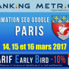 Formation SEO à Paris (mars 2017)