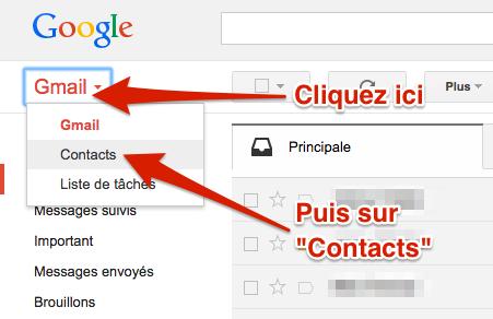 Comment voir ses contacts Gmail