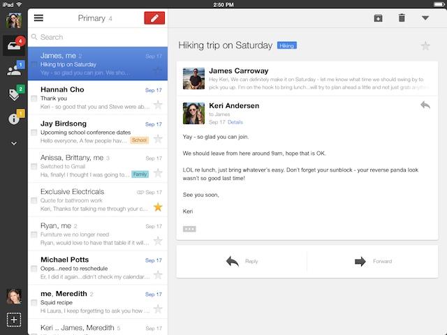 App Gmail iPad 2013-11