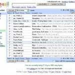 Un screenshot de Gmail, le webmail de Google
