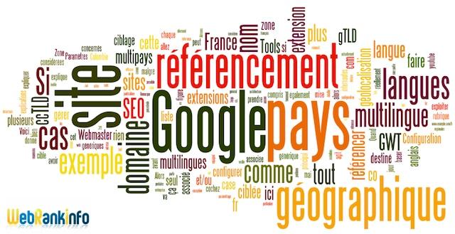 Référencement Google ciblage géographique
