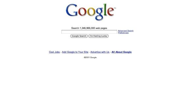 Google: design 1998-2001