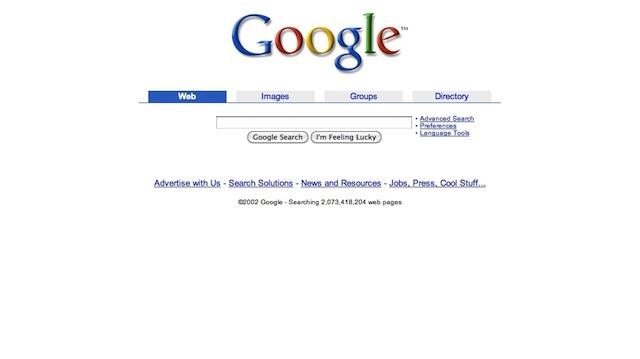 Google: design 2001-2007