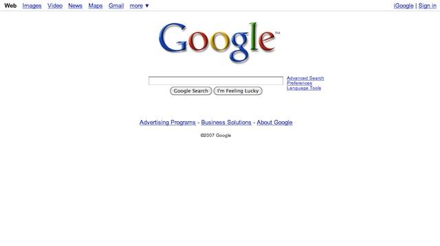 Google: design 2007-2011