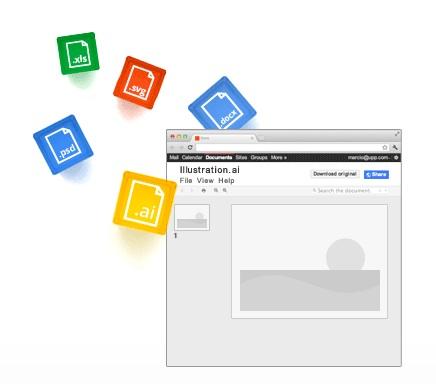 Les formats de documents gérés par Google Drive