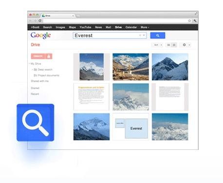 Google Drive et son outil de recherche de documents