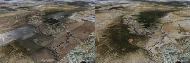 Photo du Grand Canyon Google Earth 2012