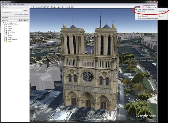 Le partage d'images Google Earth vers Google Plus