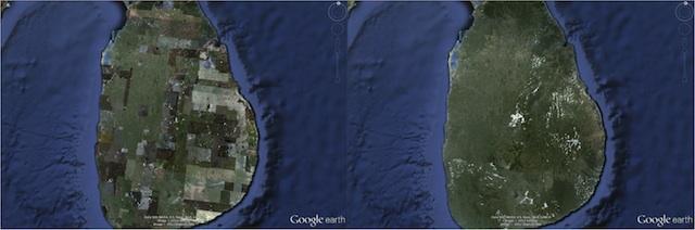 Le rendu des images satellite amélioré dans Google Earth v6.2